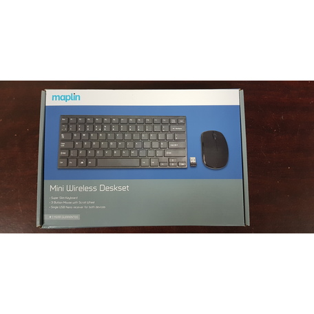 Maplin Wireless Slim Multimedia Mini Keyboard and Mouse